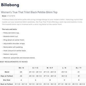 Billabong Swim - Billabong polka dot bikini top True that NEW black